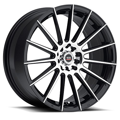 SPEC-1 Racing SP-27 Gloss Black Machined Wheels (18x8