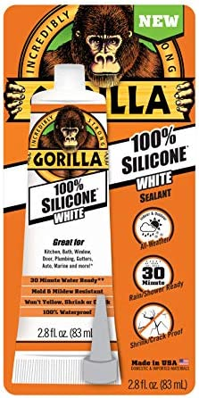 Gorilla 8060810 ホワイトチューブシリコンシーラント 2.8オンス
