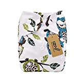 iZiv(TM) Newborn Organic with 1 Thick Insert Infant Waterproof/Adjustable/Reusable/Washable Pocket Cloth Diaper Fit Babies 0-3 Years (Color-3)