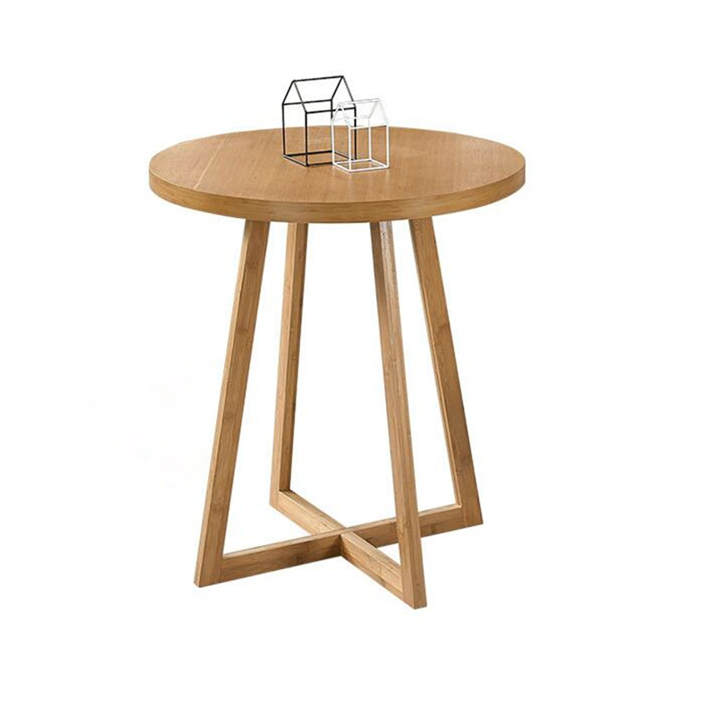 Garden Round Table, Wooden Coffee Table Sofa Table Small Dining Table Computer Table 60  60  74.5cm