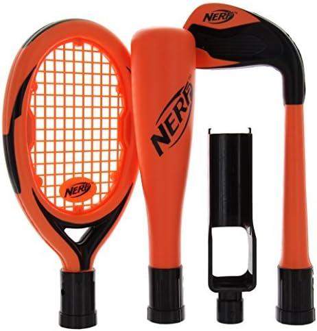 Nerf Sports Pack for Nintendo Wii, Tennis Racquet. Golf Club & Baseball Bat (Orange) by Performance Design: Amazon.es: Videojuegos