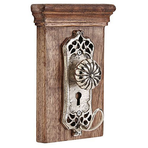 Mud Pie Vintage Style Doorknob Wall Hook - Fluted,