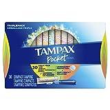 TAMPAX Pocket Pearl, Triplepack (Regular/Super/Super Plus), Plastic Tampons, Unscented, 34 Count, Packaging may vary