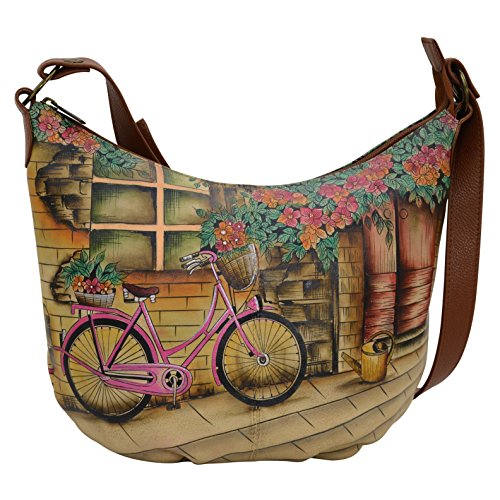 Anuschka Handbags Women's 471 Medium Bucket Hobo Vintage Bike Handbag by ANUSCHKA (Image #4)