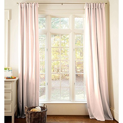 Carousel Designs Solid Peach Drape Panel 96-Inch Length Standard Lining 42-Inch Width by Carousel Designs