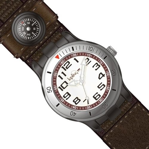 Price comparison product image Kipling Brown Quartz Watch with Compass