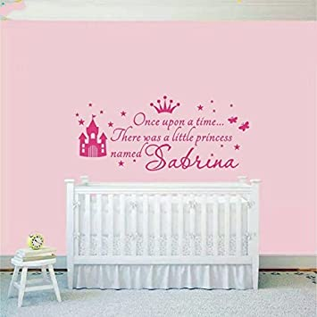 Custom personalized name princess girl name decals wall sticker for kids rooms baby nursery wall decals