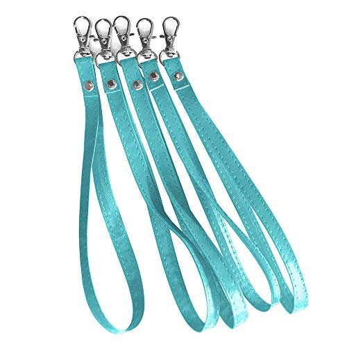 WIRESTER 79 Inch Leather Replacement Wrist Strap Wristlet Purse Wallet Pouch 5 Pieces/Set Teal