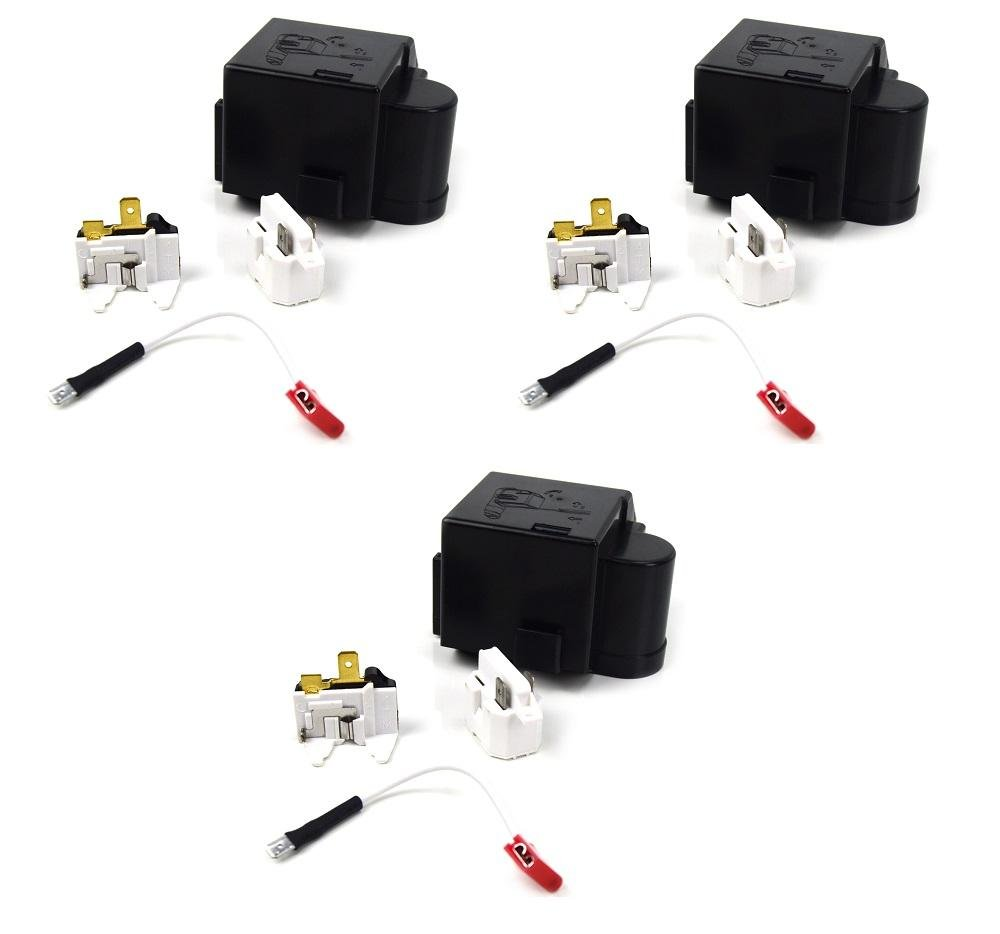 Fits Whirlpool Kenmore 12002782 Relay Overload Kit AP4009659 3 Pack