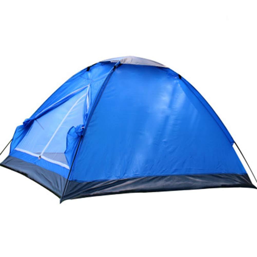 bleu  Tente 2 Personnes Tente de Camping en Plein air Tente imperméable et Coupe-Vent pour Camping Park Couleur (Beige Bleu)