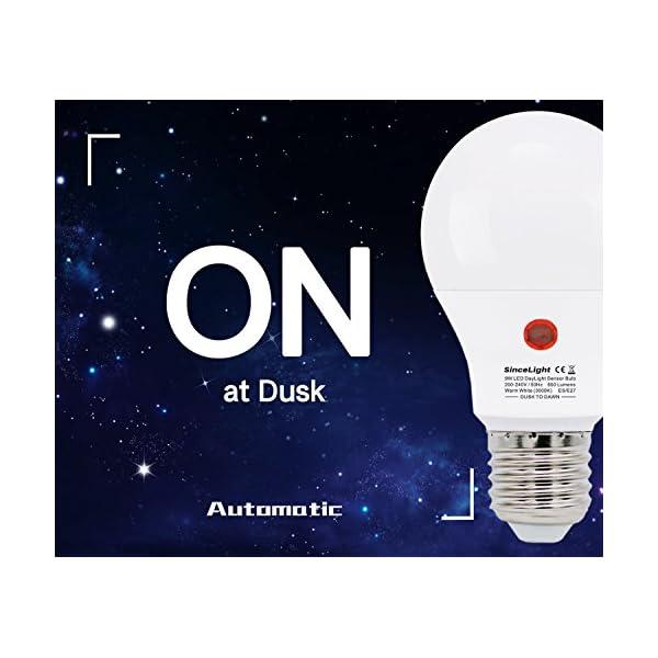 Lampadina a LED con doppio sensore di luce solare • 9 Watt • dal tramonto all'alba • ON/OFF automaticamente • 2 Pezzi… 2 spesavip