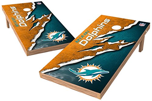 PROLINE NFL Miami Dolphins 2'x4' Cornhole Board Set - Ripped Design