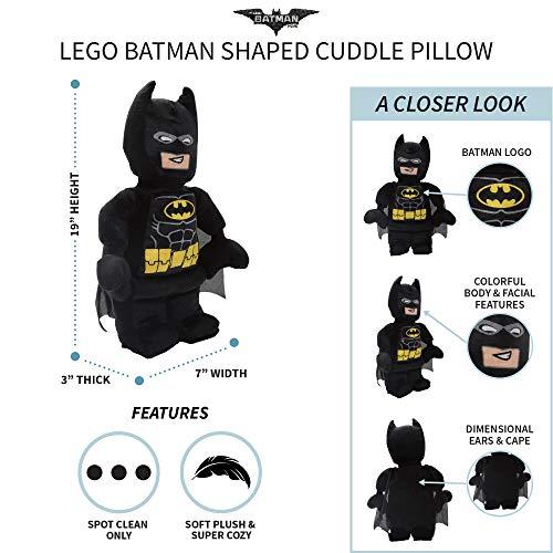 51c4q5YtgKL - Franco Kids Bedding Super Soft Plush Snuggle Cuddle Pillow, Lego Batman