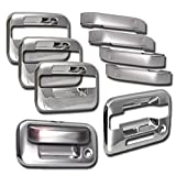 ZMAUTOPARTS Ford F150 4Dr Pickup Door Handle + Tailgate Cover Trim Bezel Chrome Pcs by ZMAUTOPARTS