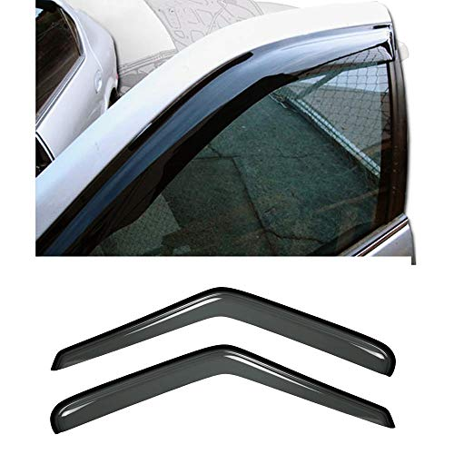 Deebior 2pcs Front Dark Smoke Sun/Rain Vent Shade Window Visors For 95-05 Chevy S10 Blazer 95-01 GMC S15 Jimmy 2-Door SUV 94-04 S10 Pickup Sonoma Pickup 96-00 Isuzu Hombre (Front 2-Doors)