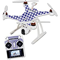 Skin For Blade Chroma Quadcopter – Blue Houndstooth | MightySkins Protective, Durable, and Unique Vinyl Decal wrap cover | Easy To Apply, Remove, and Change Styles | Made in the USA
