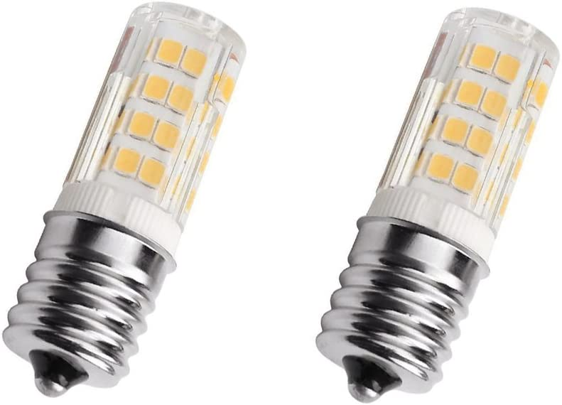 E17 LED Bulb 4 Watt Microwave Oven Light, AC110-130V,Warm White 3000K dimmable (Pack of 2)