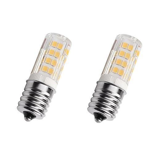 E17 LED bombilla horno de microondas, 4 W luz blanca cálida 3000 K ...