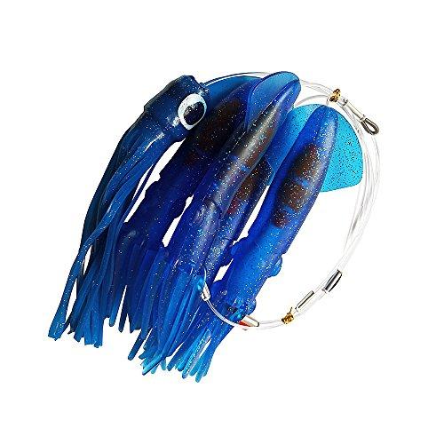(Krazywolf Blue Custom Made Daisy Chain Surface Teaser,4 x Sea Squid 9`` and 1 x Softhead)