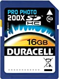 Duracell 16GB Class 10 UHS-1 U1 Prime SD HC Memory Card Up to 45MB/s [Compatible with Canon EOS Rebel T5 T5i T6 T6i 80D 6D SL1 Nikon D3300 D5500 D5600 D7200 D750 Sony Pentax Kodak Olympus Panasonic]