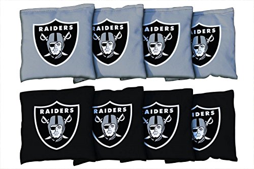 Victory Tailgate Oakland Raiders NFL Cornhole Game Bag Set (8 Bags Included, Corn-Filled)