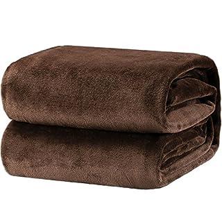 Bedsure Fleece Blanket Queen Size Brown Lightweight Super Soft Cozy Luxury Bed Blanket Microfiber