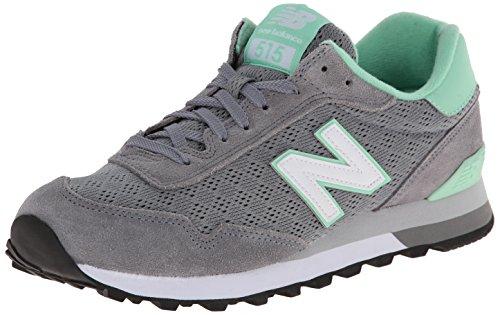 New Balance Women's WL515 Modern Classic Pack Running Shoe, Grey/Green, 11 B US