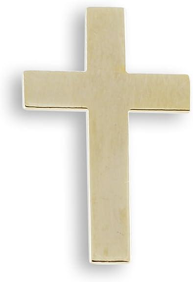 "Chaplain Gold Tone Cross Hat Pin 1/"""