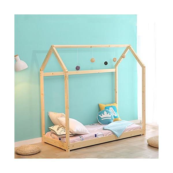 Kids House Bed Frame & Mattress 3