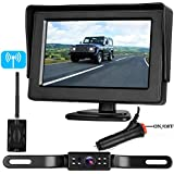 Emmako Backup Camera Digital Wireless and 4.3 Monitor System No Flickers For Cars/RV/Truck/5th wheel/Pickup/Camper IP68 Waterproof Rear/Side/Front Facing View Constantly/Reverse Use Optional