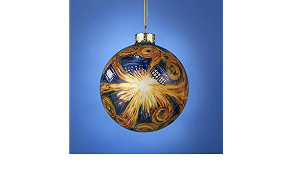Amazoncom Doctor Who Tardis Inside Starry Night Glass Ball