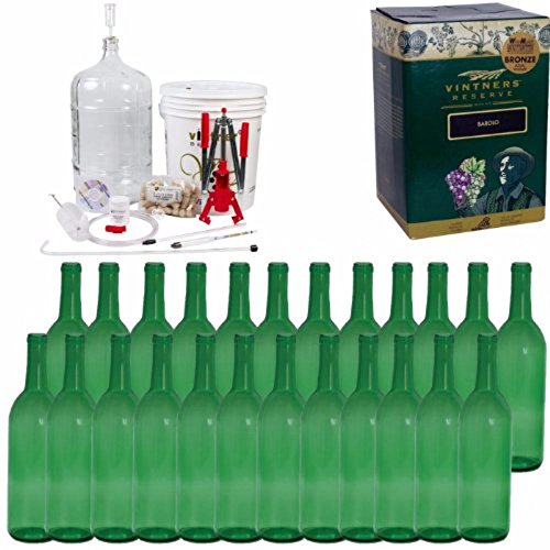 Complete Wine Package Equipment Kit w/ Double Lever Corker -Merlot by Home Brew Ohio