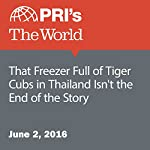 That Freezer Full of Tiger Cubs in Thailand Isn't the End of the Story | Carol Hills