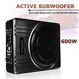 "US Warehouse - Davitu Car Multimedia Player - Universal 10"" 600W Slim Under-Seat Powered Car/Truck Subwoofer Amplifier Amp Super Bass"