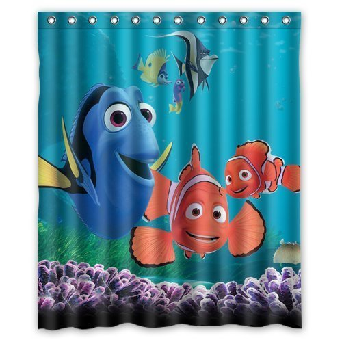 Turtle and Fish Finding Nemo Special Printed Bathroom Shower Curtain Waterproof Polyester Fabric Bath Curtains 60