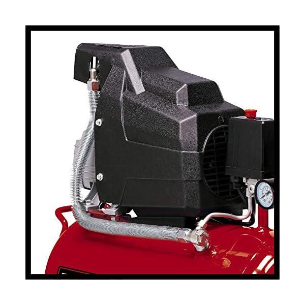 Einhell 4007325 TC-AC 190/24/8 – Compresor de aire, depósito de 24 l, 2850 rpm, 8 bar, 1500 W, 220-240 V, 50 Hz, Rojo…