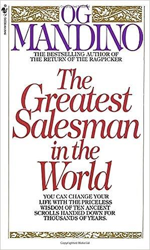 The Greatest Salesman In The World Og Mandino