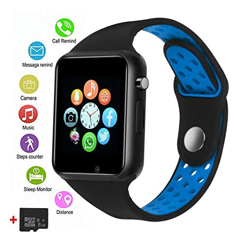 Smart Watches, JACSSO Touch Screen Bluetooth Smartwatch with Camera, Android Smart Watch/Sport Smart Wrist Watch Compatible Android Samsung LG Phones iOS iPhone Men Women (Included 8G Memory Card)