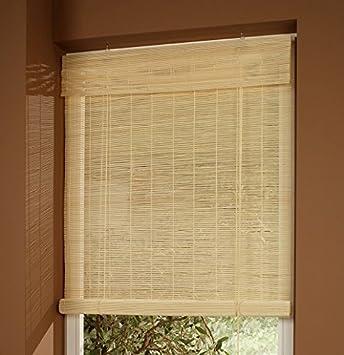Amazon De Cg Sonnenschutz Bambusrollo Bambus Holzrollo Natur 60 X