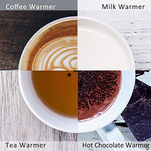 KRGMNHR 18Watt Coffee Mug Warmer & Cup Warmer,Office/Home Use Electric Cup Beverage Plate with Auto-shutoff After 4 Hours for Tea, Water,Cocoa,Milk by KRGMNHR (Image #2)