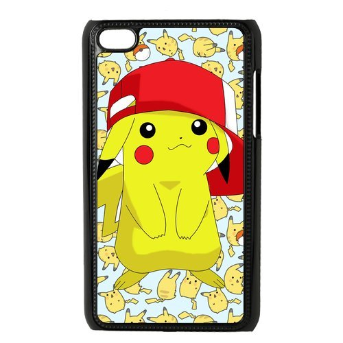 Case.Store-Pikachu Phone Case Customized Hard Snap-On Plastic Case for iPod Touch 4, 4th Generation Cases iPod 4 TY069 (4th Pikachu Generation Case Ipod)