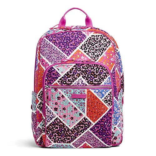 Vera Bradley Iconic Deluxe Campus Backpack, Signature Cotton