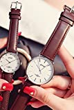 Generic Simple stylish trendy_ women girl watch _genuine_thin_ leather _jacket_male_ student _couples_with_Ms._ watch es_water_resistant_ quartz watch