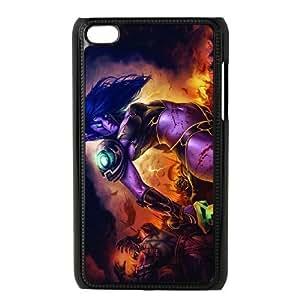 ipod 4 Black phone case world of warcraft lady WCT4279888