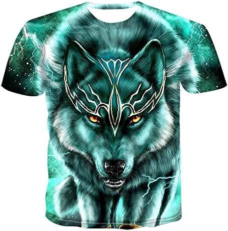 3D WOLFS PRINT T SHIRTS FOR MEN GRAPHIC DESIGN COOL CASUAL TOPS FASHION FOUR SEASON SHORT SLEEVES SHIRTS
