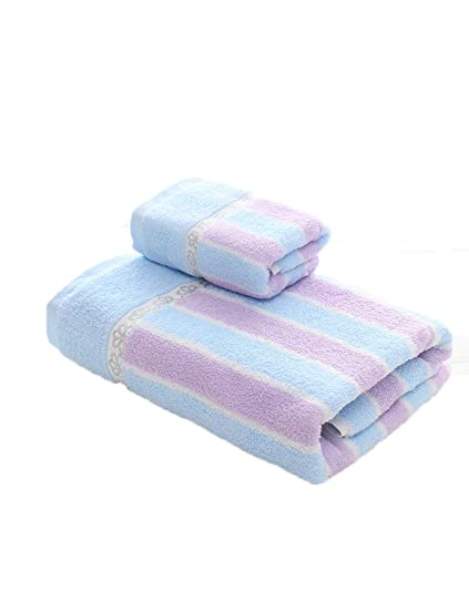 Toalla de baño suave---- Toalla de algodón simple Absorbente Toallas suaves grandes