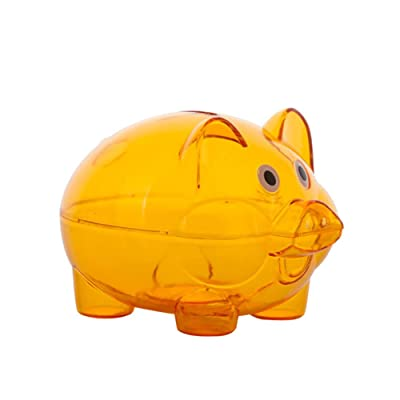 Mosichi Lovely Clear Piggy Bank Plastic Coin Cash Money Saving Box Openable Kids Gift : Baby