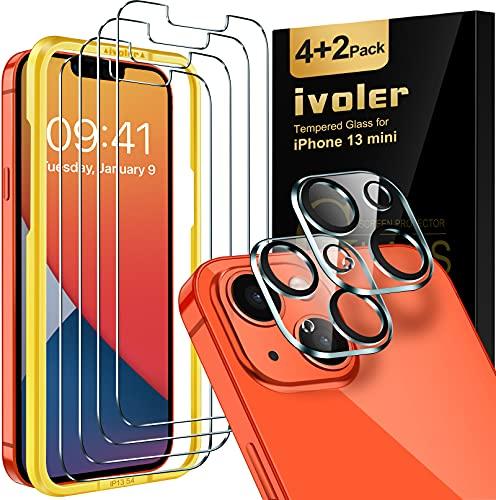 4 vidrios templados pantalla y 2 de camara iphone 13 mini