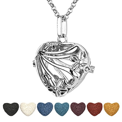 Heart shaped essential oil necklace