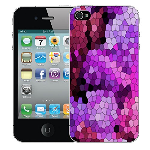 Mobile Case Mate iPhone 5c Silicone Coque couverture case cover Pare-chocs + STYLET - Purple Mozaic pattern (SILICON)